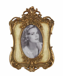 Baroque Picture Frame Gold / Cream - 19 cm x 26,7 cm