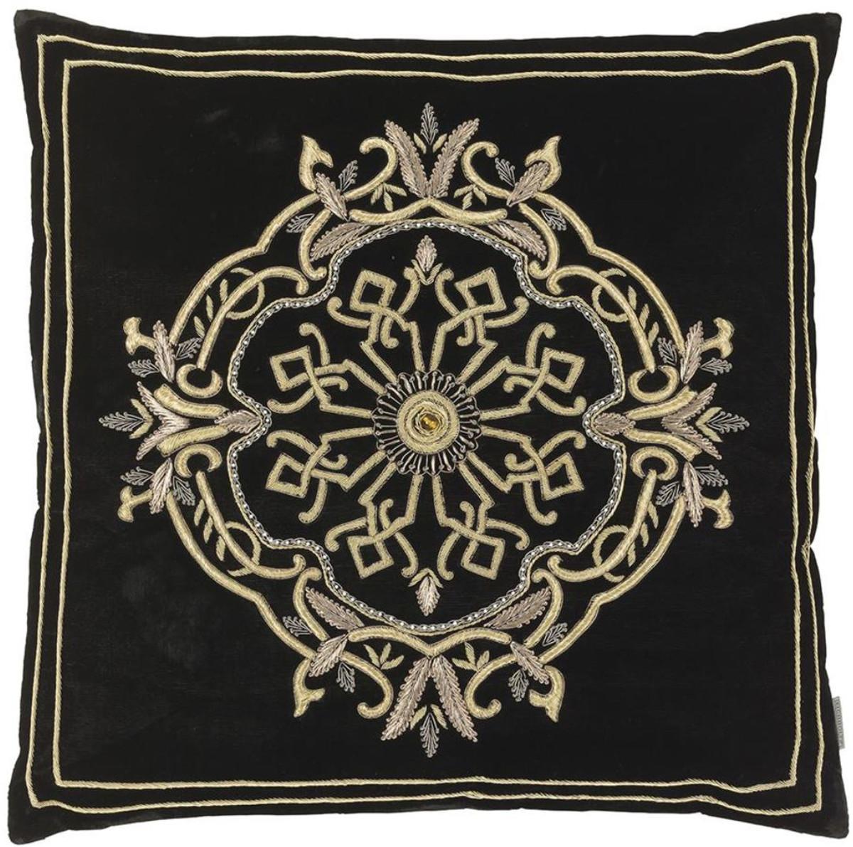 Designer Deko casa padrino designer deko kissen schwarz silber 60 x h 60 cm