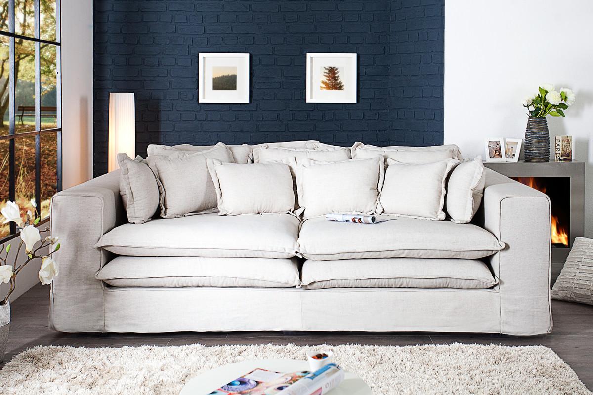 Casa Padrino Designer Wohnzimmer Sofa In Creme   Luxus Qualität