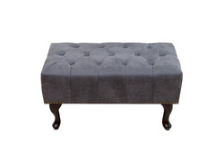 Chesterfield Footstool Gray antique look from the house Casa Padrino
