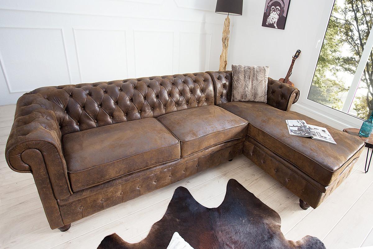 Casa Padrino Chesterfield Ecksofa In Antikbraun   Wohnzimmer Möbel   Couch  U2013 Bild 2