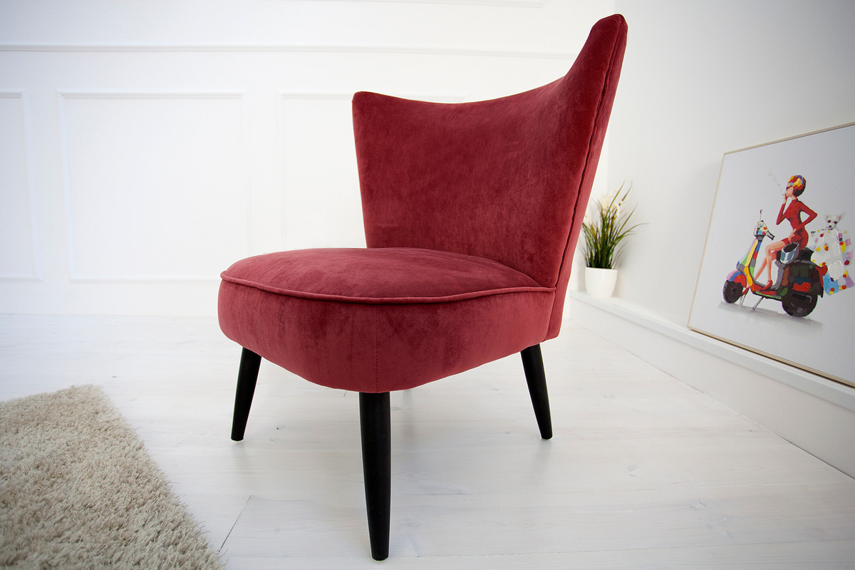 casa padrino 60s retro lounge chair red cocktailsessel. Black Bedroom Furniture Sets. Home Design Ideas