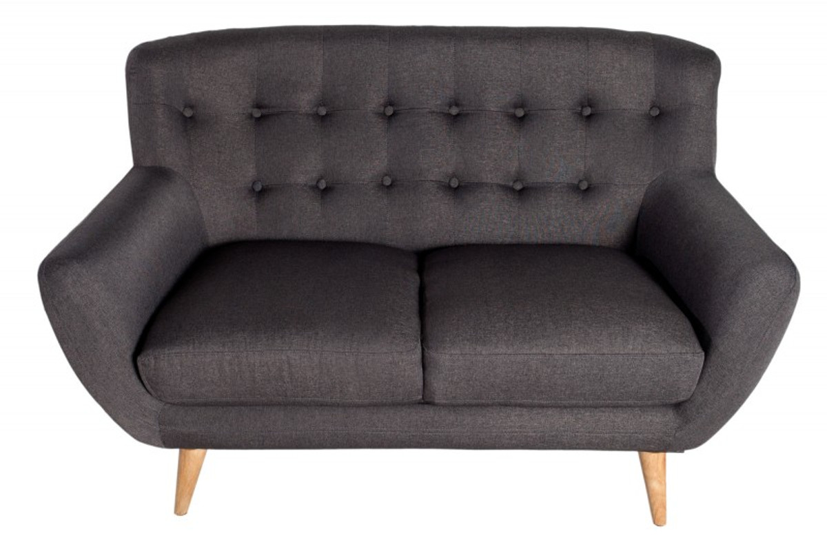 Chesterfield 2er sofa gray from the house Casa Padrino