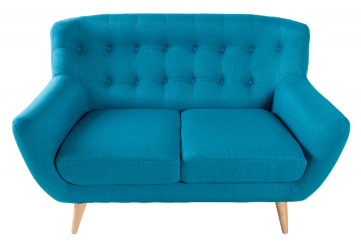 Chesterfield 2er Sofa Blue From The House Casa Padrino Living Room