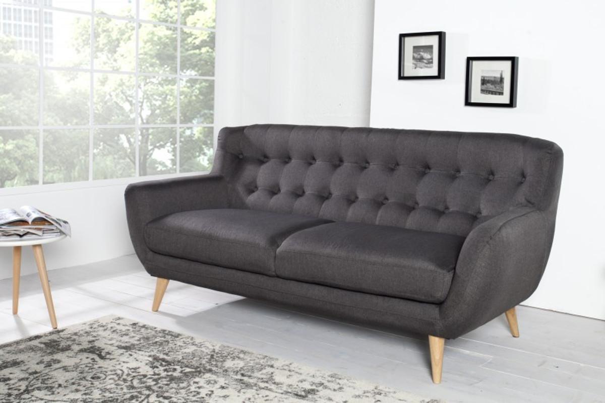 Chesterfield 3er Sofa Grau Aus Dem Hause Casa Padrino Wohnzimmer