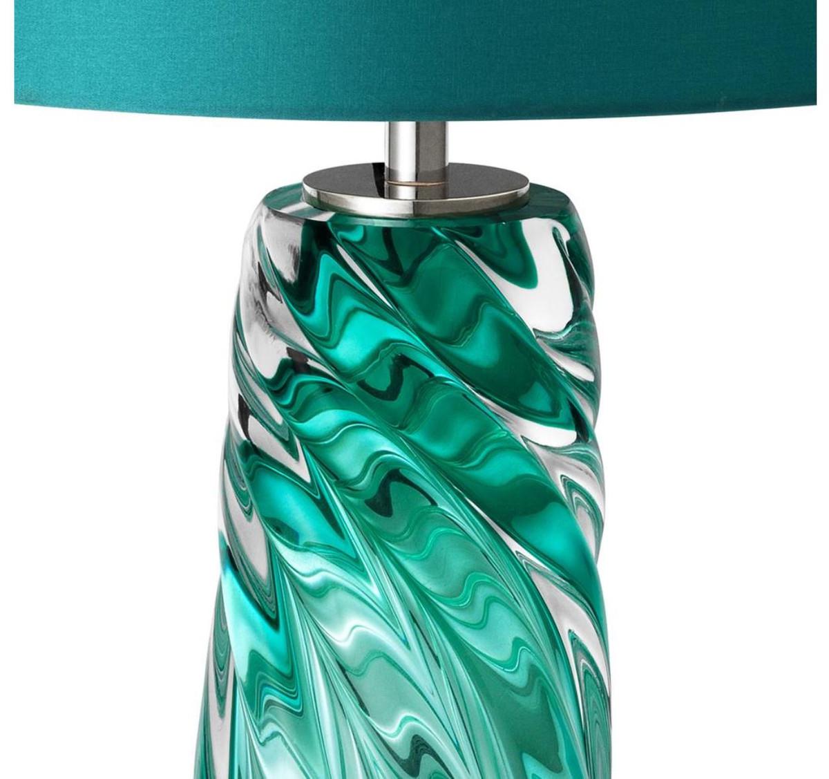 Casa Padrino Lampada Da Tavolo Design Turchese 17 X 42 X H 67 Cm Collezione Di Lusso Casa Padrino De