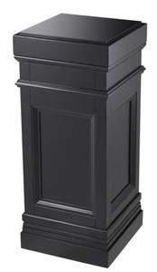 Casa Padrino Column Black 44 x 44 x H. 103 cm - Luxury Side Table