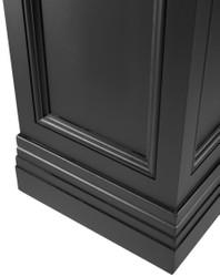 Casa Padrino Column Black 44 x 44 x H. 103 cm - Luxury Side Table 4