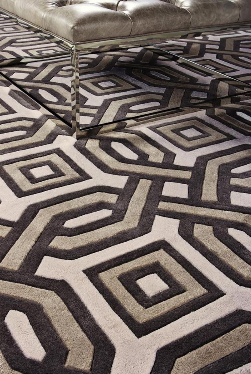 casa padrino designer teppich aus neuseeland wolle 200 x 300 cm luxus wohnzimmer teppich. Black Bedroom Furniture Sets. Home Design Ideas