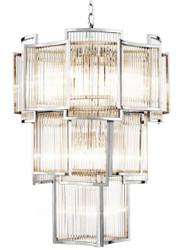 Casa Padrino Luxury Hotel Chandelier Silver Diameter 58 x H. 84 cm - Limited Edition