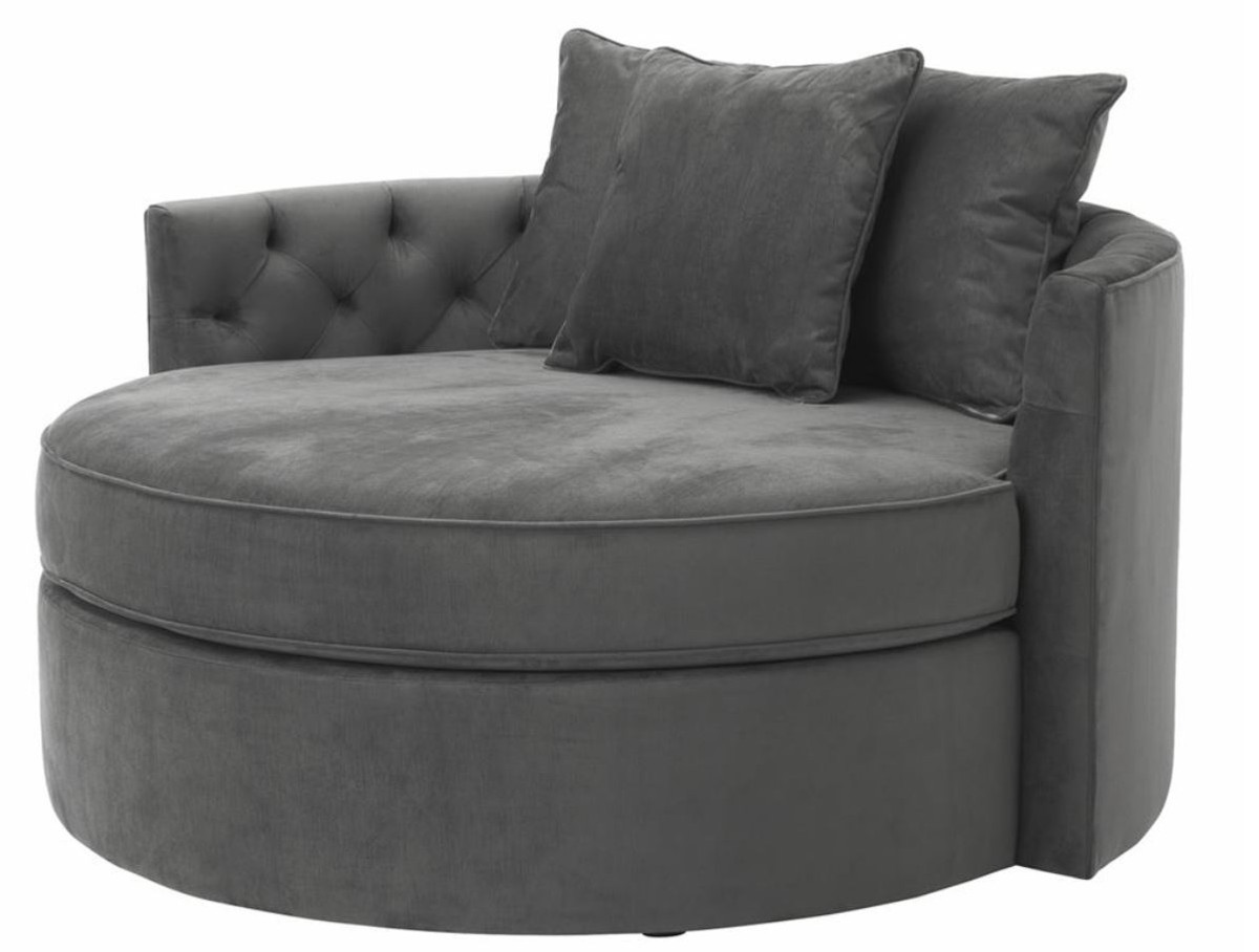 Casa padrino designer sofa dark gray 157 x 148 x h 90 cm for 90 cm sofa bed