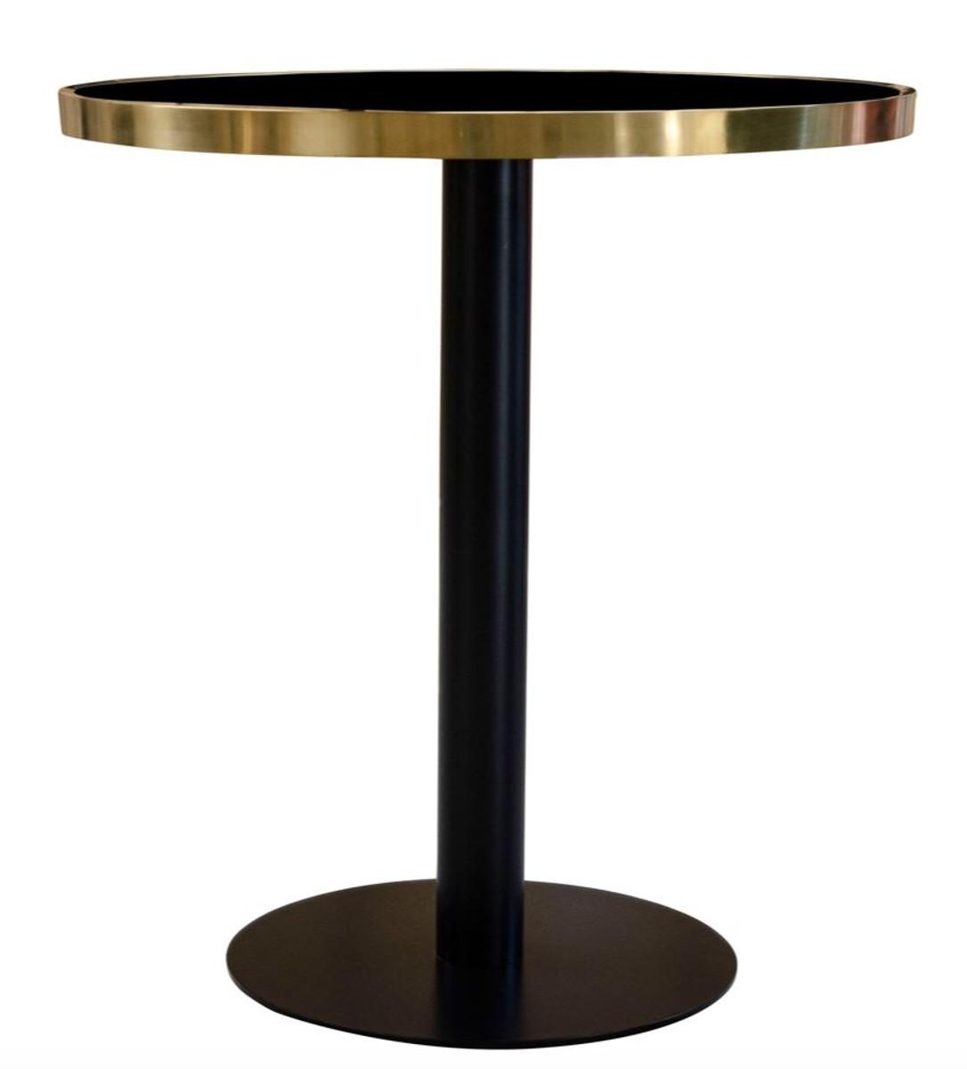 casa padrino luxus esstisch schwarz gold 70 x h 76 cm. Black Bedroom Furniture Sets. Home Design Ideas