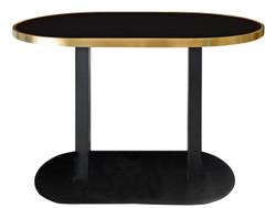 Casa Padrino luxury dining table black / gold 110 x 70 x H. 76 cm - designer dining room furniture