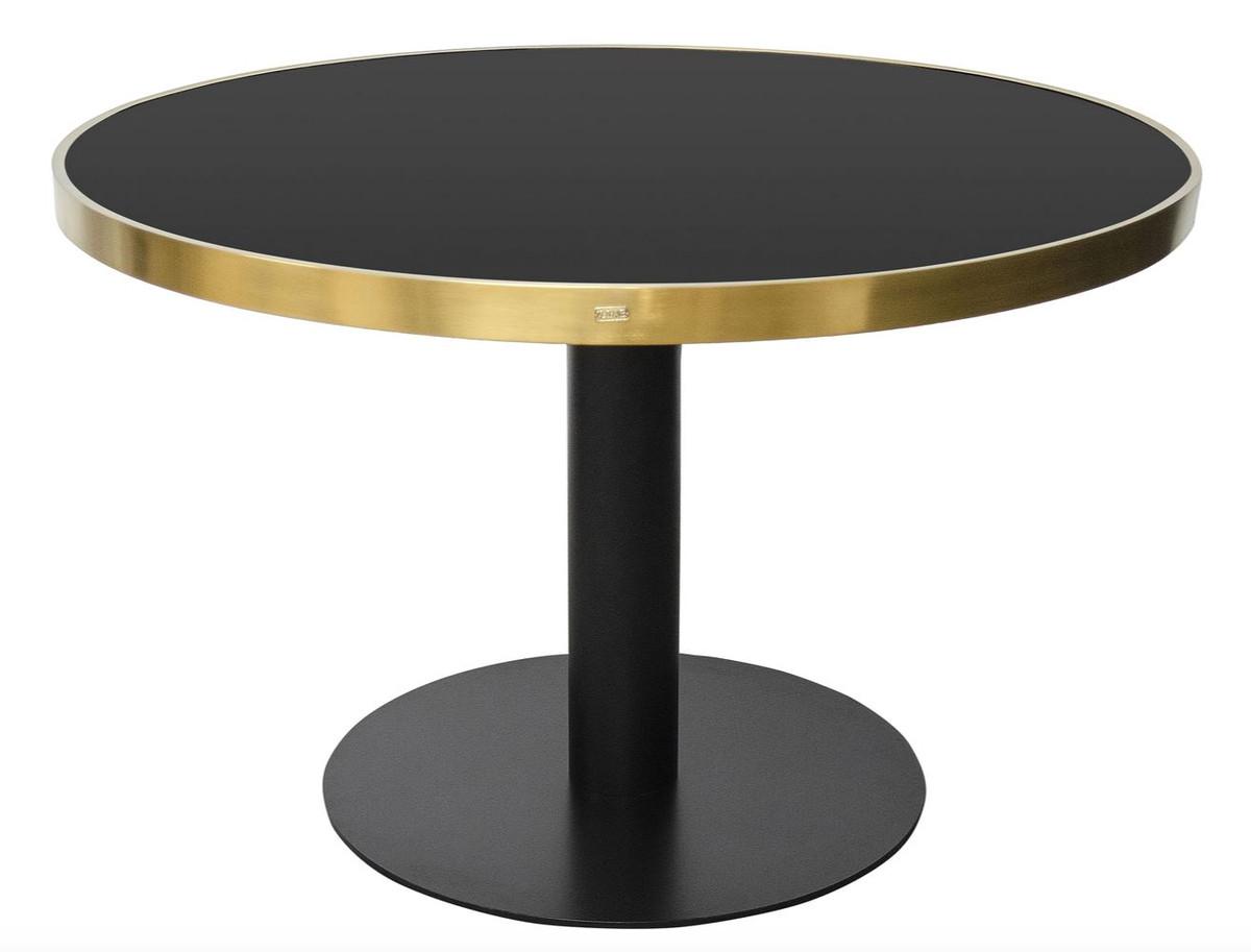 Casa Padrino Luxus Esstisch Schwarz Gold 120 X H 76 Cm Designer