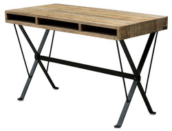 Casa Padrino designer desk with black powder coated legs 120 x 60 x H. 77 cm - designer office furniture