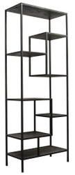 Casa Padrino designer shelf cabinet black 80 x 40 x H. 210 cm - Luxury Quality