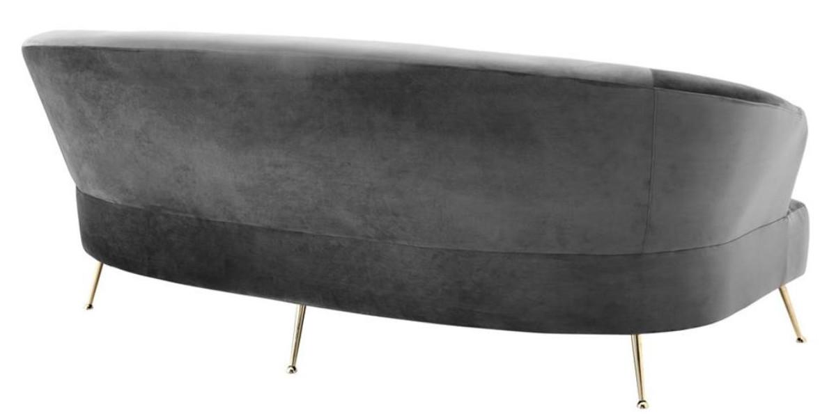 Casa padrino sofa gray brass 230 x 100 x h 87 cm for Sofa 90 cm sitztiefe