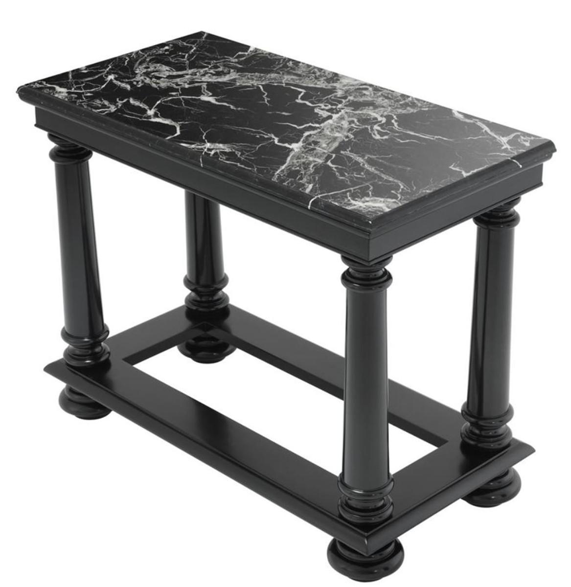 casa padrino luxus konsolentisch in schwarz mit schwarzer. Black Bedroom Furniture Sets. Home Design Ideas