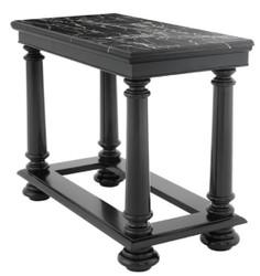 Casa Padrino Luxus Konsolentisch in schwarz mit schwarzer Marmorplatte 100 x 50 x H. 79 cm - Limited Edition