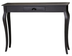 Casa Padrino bathroom console with drawer in black 120 x 30 x H. 90 cm - Art Nouveau Furniture