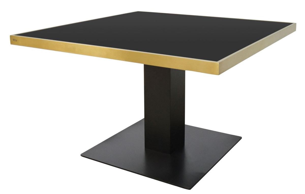 casa padrino designer esstisch schwarz gold 120 x 120 x h 76 cm luxus esszimmerm bel. Black Bedroom Furniture Sets. Home Design Ideas