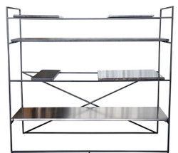 Casa Padrino luxury living room cabinet black 110 x 45 x H. 100,5 cm - designer shelf cabinet