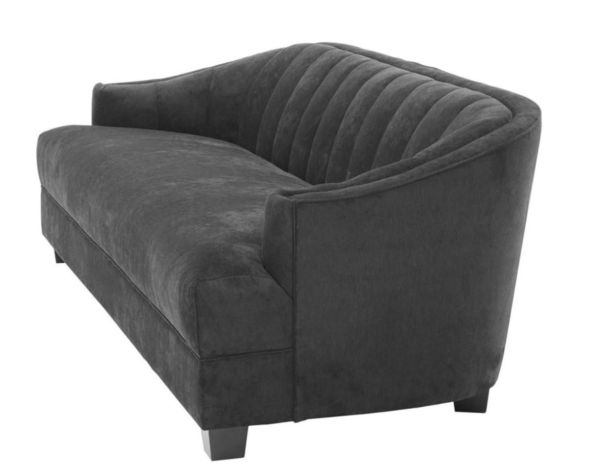 casa padrino luxus wohnzimmer sofa in schwarz 230 x 90 x h 75 cm luxus m bel sofas luxus. Black Bedroom Furniture Sets. Home Design Ideas