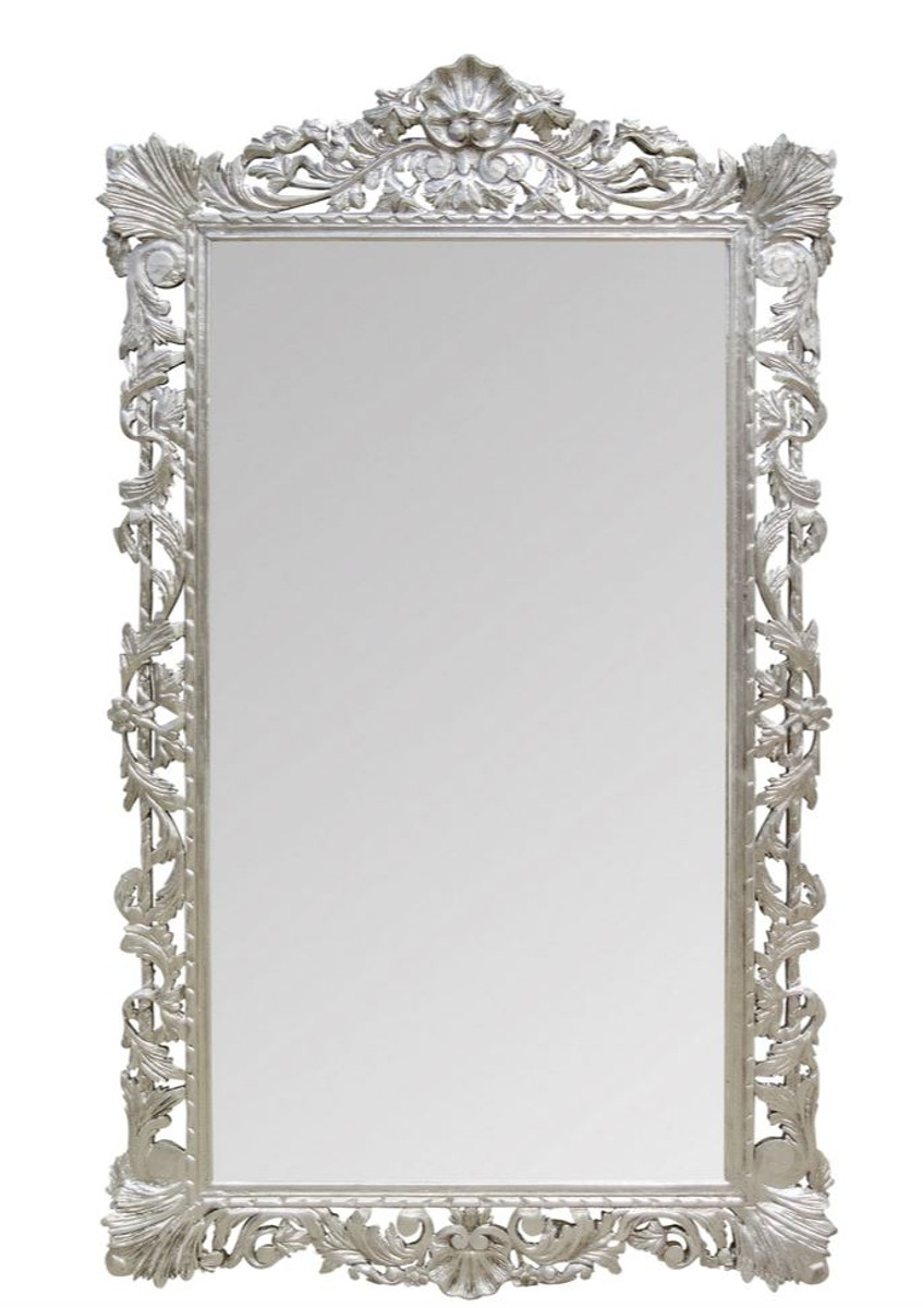 Casa padrino baroque mirror silver 110 x h 193 cm for Antique style wall mirror