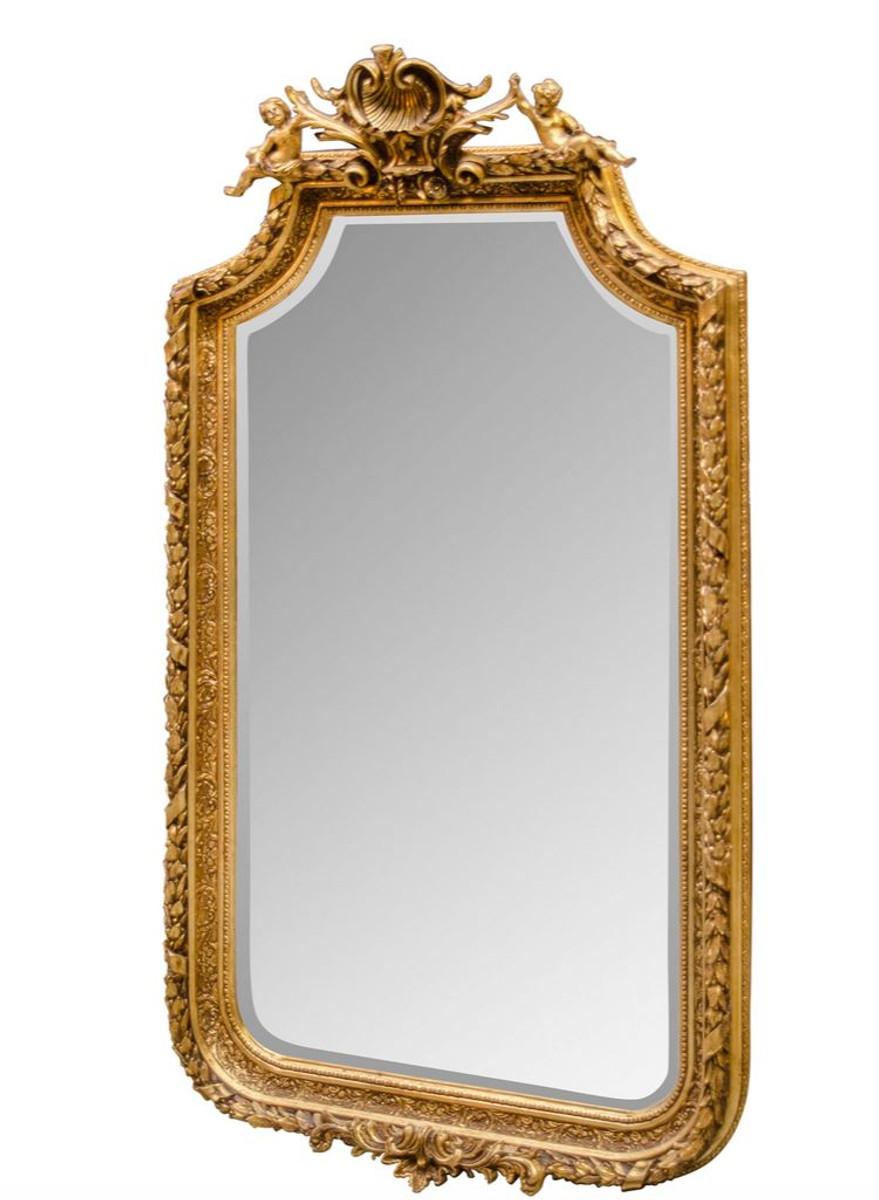 casa padrino barock spiegel mit goldenen rahmen 100 x h 175 cm antik stil m bel spiegel. Black Bedroom Furniture Sets. Home Design Ideas