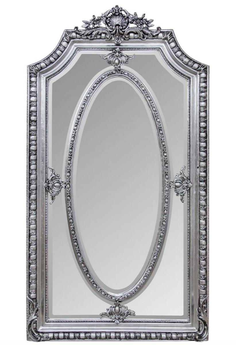 Casa Padrino Antik Stil Spiegel Wandspiegel Silber 118 X H 207 Cm