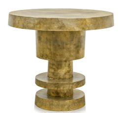 Casa Padrino Side Table Antique Gold 51.5 x H. 47.5 cm - Living Room Table