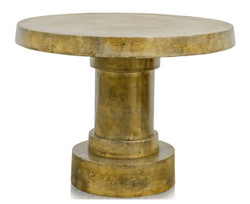 Casa Padrino Side Table Antique Gold 60 x H. 45 cm - Living Room Table