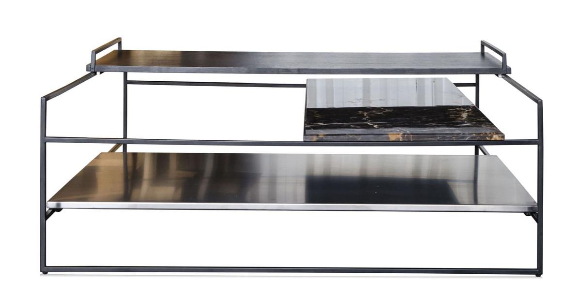 Casa padrino luxus couchtisch schwarz 100 x 100 x h 39 5 for Luxus couchtisch