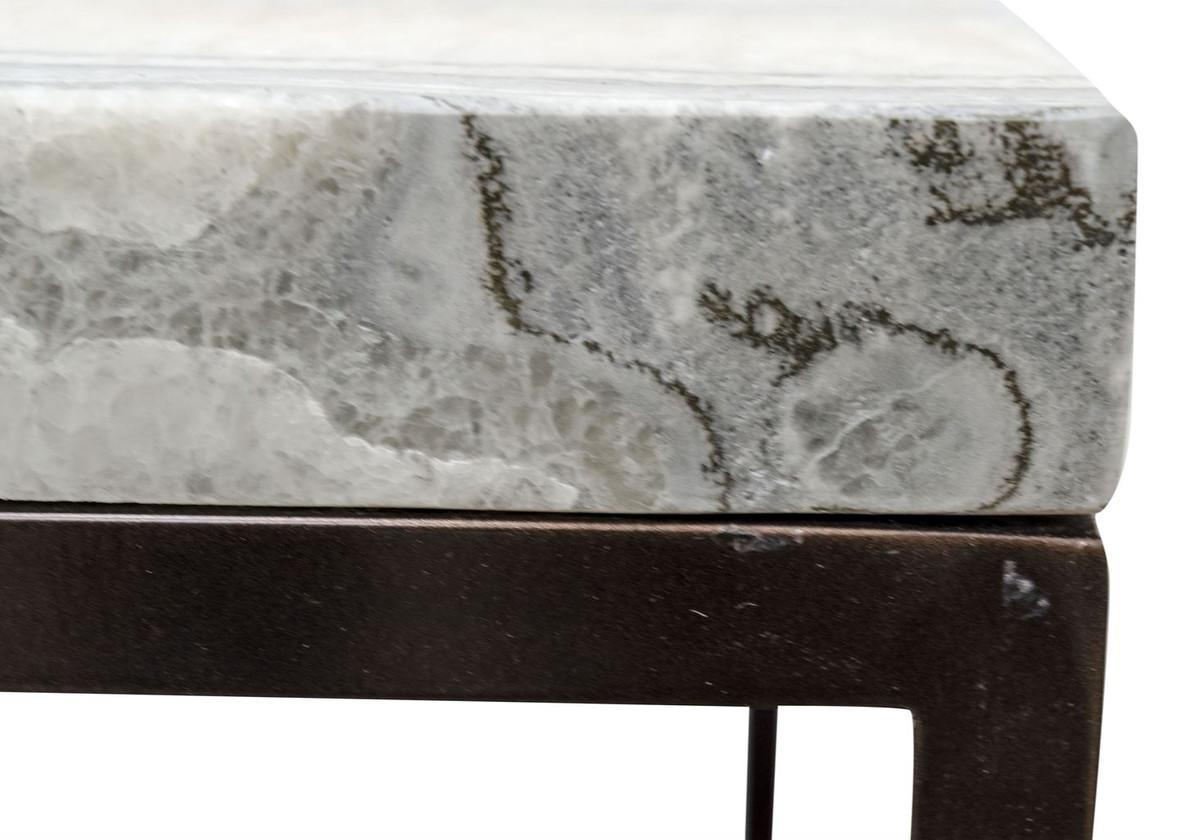 Plateau De Table En Pierre Naturelle casa padrino table de luxe avec plateau en pierre naturelle 80 x 50 x h. 40  cm - table basse de luxe