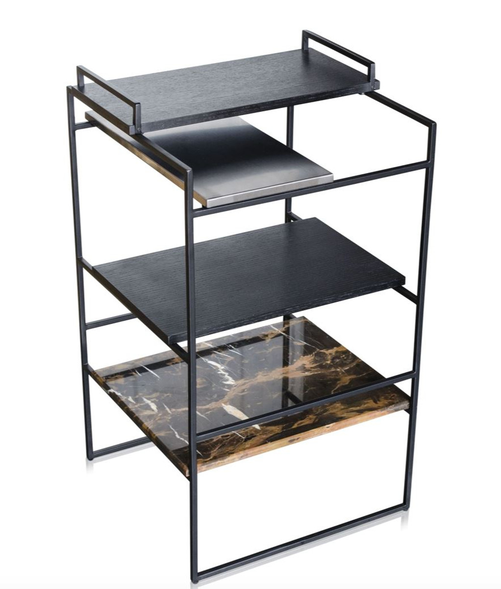 casa padrino luxus designer beistelltisch schwarz 45 x 45 x h 80 5 cm designer m bel. Black Bedroom Furniture Sets. Home Design Ideas