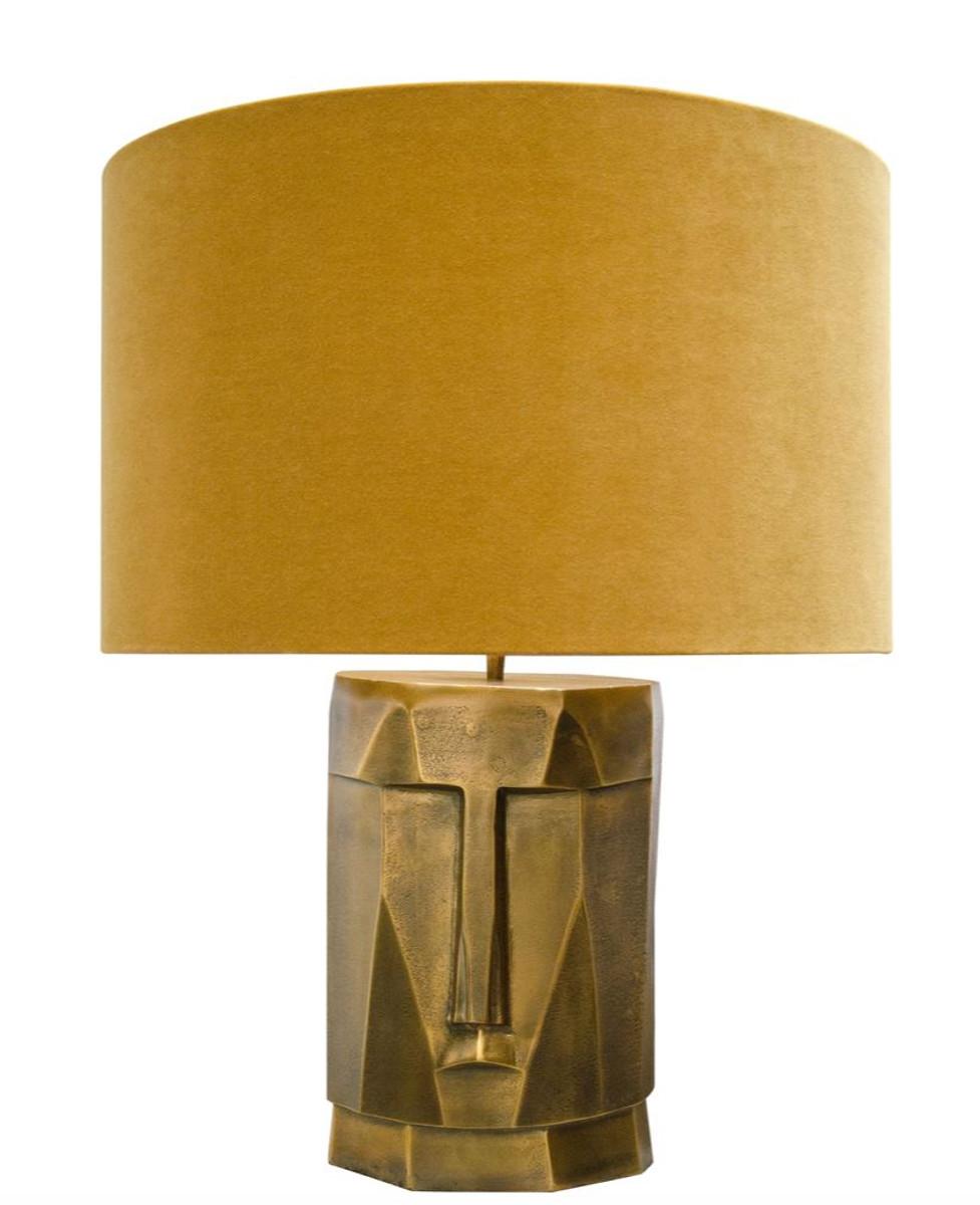 Casa Lampe casa padrino lampe de table de luxe en laiton antique avec abat-jour