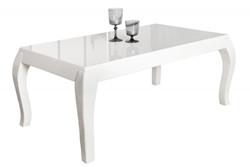 Casa Padrino Side Table White - High Gloss (110x45x60cm)