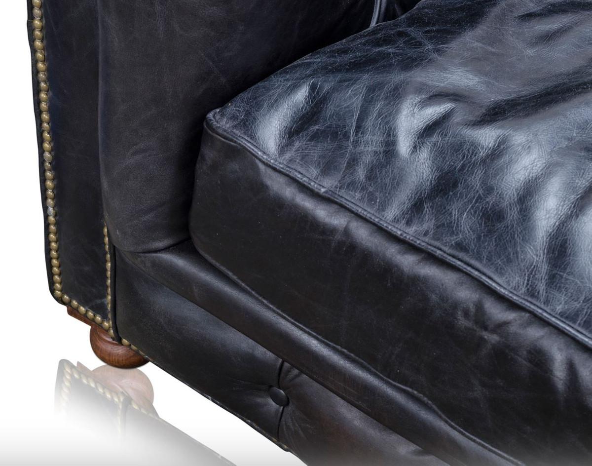 Casa Padrino Luxury 6 Seater Sofa Black 410 X 120 X H 77