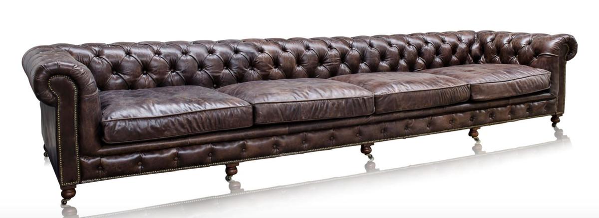 casa padrino luxus 6er sofa braun 410 x 120 x h 77 cm chesterfield m bel sofas luxus hotel sofas. Black Bedroom Furniture Sets. Home Design Ideas