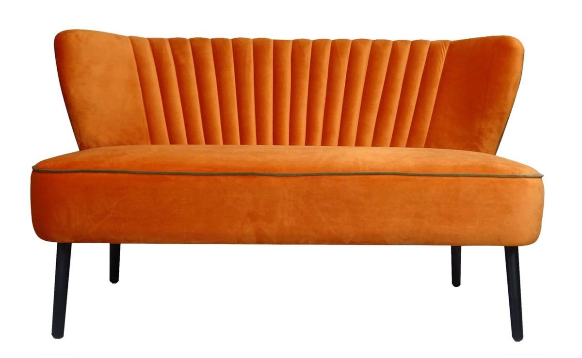 Casa padrino luxus wohnzimmer sofa orange 129 x 75 x h 73 5 cm designer m bel sofas luxus - Designermobel wohnzimmer ...