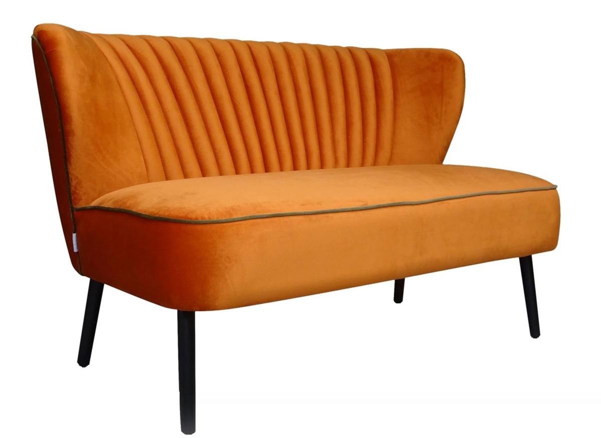 Casa Padrino divano da soggiorno di lusso arancione 129 x 75 x H. 73,5 cm -  Mobili Design