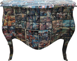 Casa Padrino Baroque Commode Comic Design 100 cm - Handmade from solid wood Limited Edition
