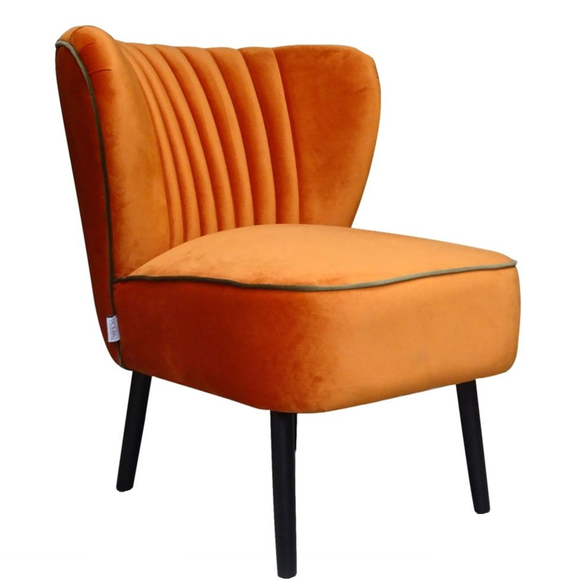 Casa padrino luxus wohnzimmer sessel orange 61 x 70 x h for Sessel 70 cm