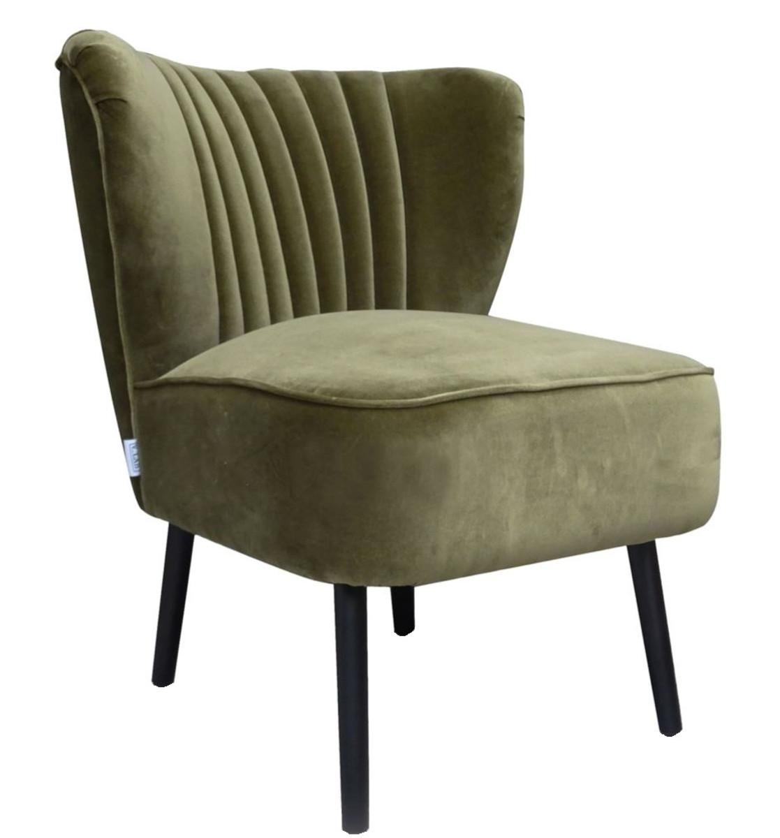 Casa Padrino Luxus Wohnzimmer Sessel Grün 61 X 70 X H 73 Cm