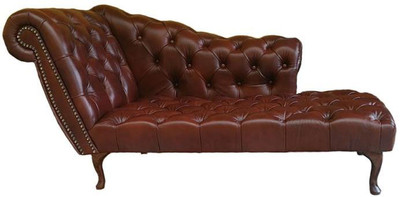 Casa Padrino Chesterfield Chaise Longue / Recamiere Genuine Leather ...
