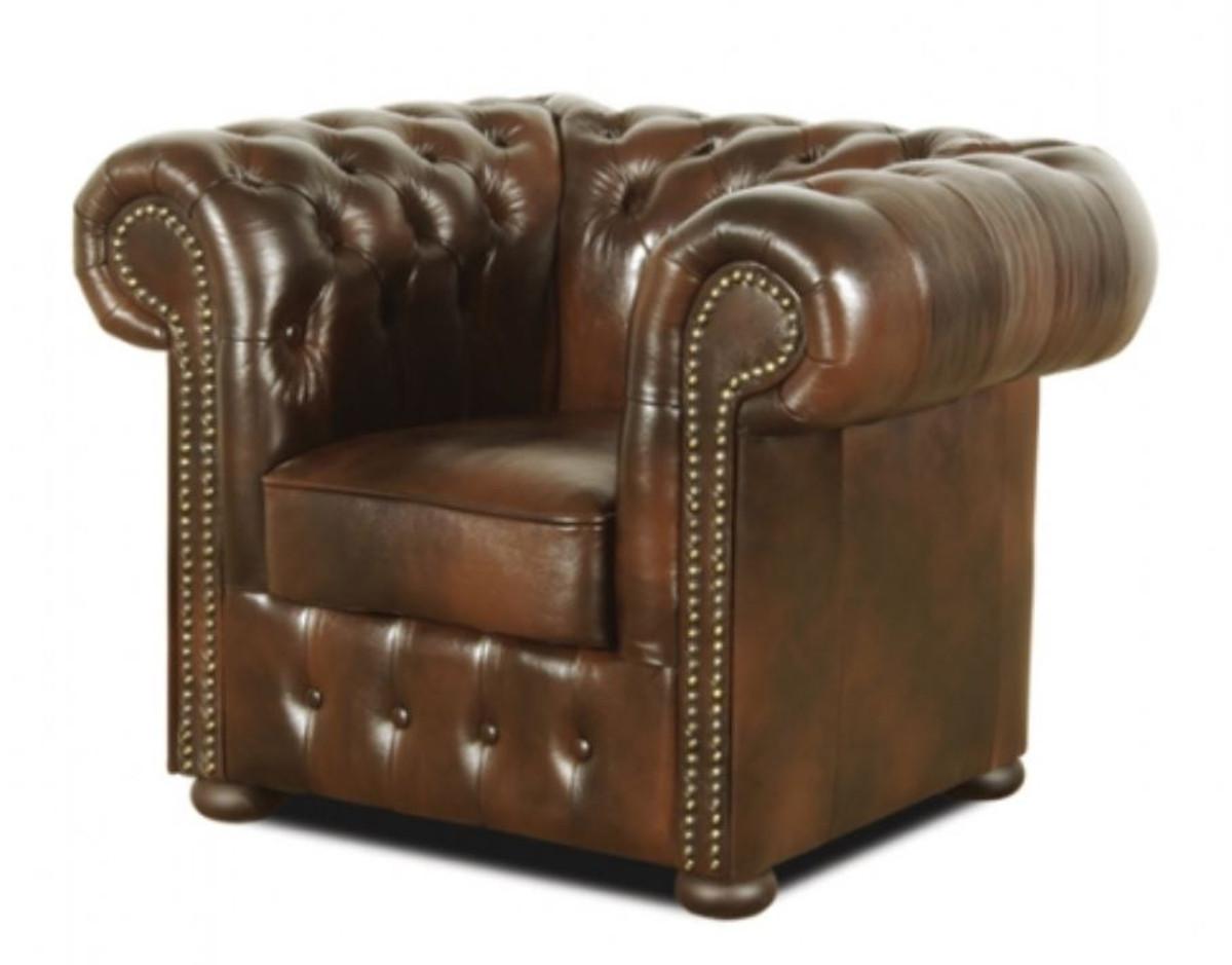 Casa Padrino Chesterfield Wohnzimmer 3er Set Dunkelbraun Luxus