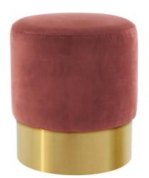 Casa Padrino luxury stool wine red / gold 40 x H. 45 cm - Hotel Furniture