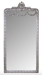 Casa Padrino Baroque Mirror Silver 120 x H. 242 cm - Baroque Wall Mirror