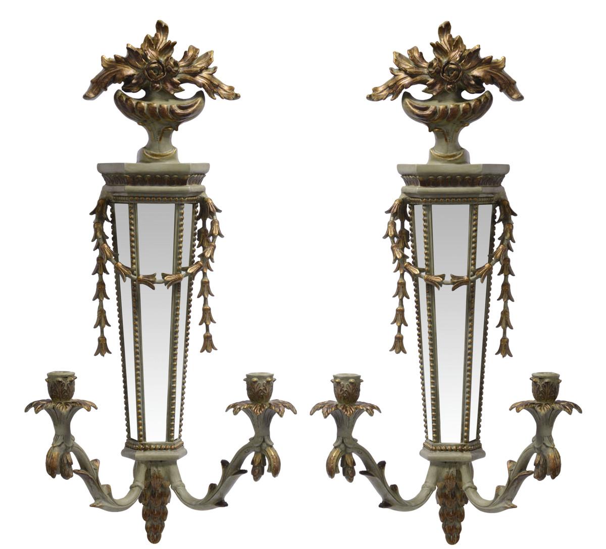 Casa Padrino Appliques Murales Baroque Or Avec Miroir Applique
