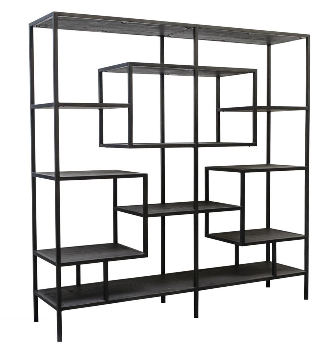 Casa padrino designer regalschrank schwarz 160 x 40 x h 160 cm luxus wohnzimmerschrank - Wohnzimmerschrank schwarz ...